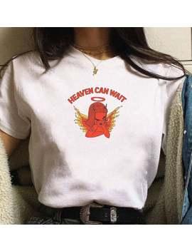 Heaven Can Wait Angel Print Women Tshirt Cotton Casual Funny T Shirt Lady Yong Girl Top Tee Drop Ship S 551 by Ali Express.Com