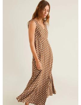 Długa Sukienka Ze Wzorem by Mango