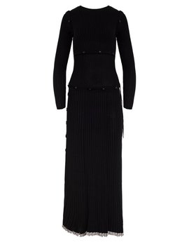 Deconstructed Long Sleeve Dress by Christopher Esber