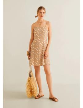 sukienka-ze-wzorem-i-gumką-do-włosów by mango