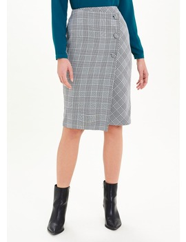 Asymmetric Check Pencil Skirt by Matalan