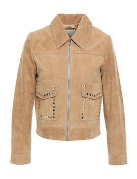 Studded Suede Jacket by Sandro