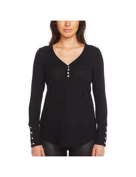 Chaser Ladies' Long Sleeve Waffle Thermal by Chaser