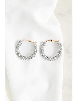 Twist Crystal Hoop Earrings by Bardot