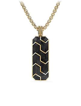 Forged Carbon 18 K Yellow Gold Ingot Pendant by David Yurman