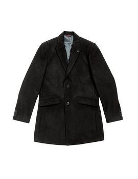 Black Faux Wool Overcoat by Burton