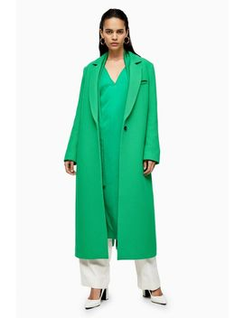 **Green Coat With Linen By Topshop Boutique by Topshop