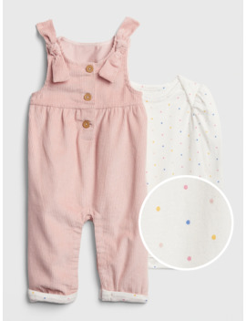 Baby Cord Overall Bodysuit Set by Gap