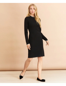Scalloped Edge Sweater Dress by Brooks Brothers