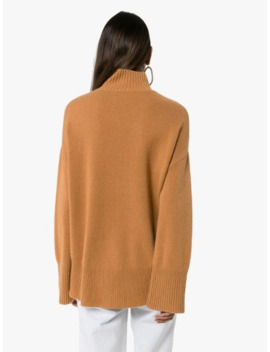 High Low Cashmere Turtleneck Sweater by Frame