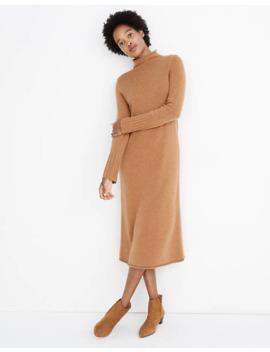 Petite Cashmere Mockneck Midi Sweater Dress by Madewell