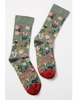Flower Print Ankle Socks by Bonne Maison