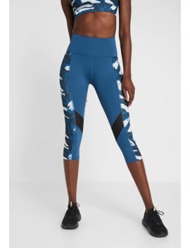 Abstract Print Panel Cropped Leggings   3/4 Sportbroek by Wolf & Whistle