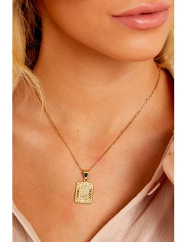 Initial Card Gold Necklace by Bracha