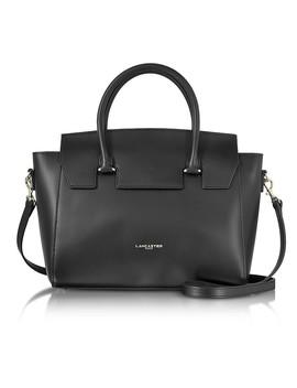 Camelia Leather Tote Bag W/Detachable Shoulder Strap by Lancaster Paris
