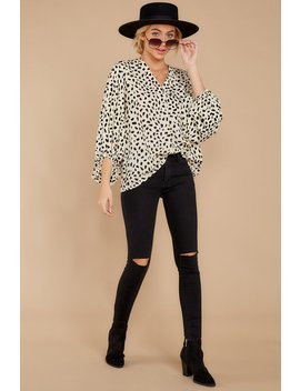 On Alert Cream Cheetah Print Top by Entro