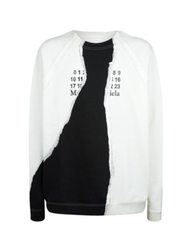 Oversized Numbers Sweatshirt by Maison Margiela