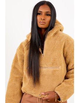 Copper Sherpa Pullover Sweater by Sorella