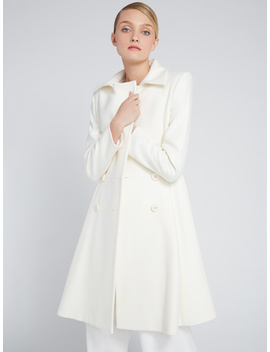 Leila Fit And Flare Pleated Coat by Alice And Olivia