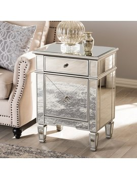 Beglin Hollywood Regency Mirrored 1 Drawer Nightstand by Joss & Main