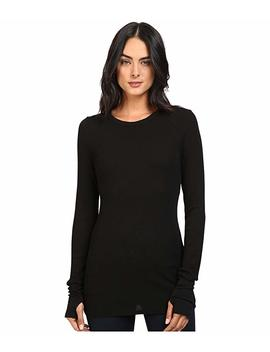 Thermal Long Sleeve Raw Edge Crew W/ Thumbholes by Michael Stars