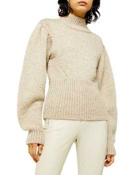 Idol Banana Sleeve Funnel Neck Sweater by Topshop