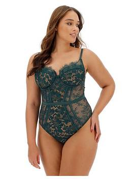 Ann Summers Love Me True Green Bodyshaper by Simply Be