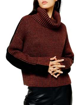 Wool Blend Roll Neck Sweater by Topshop