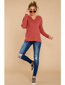 The Mesa Red Waffle Split Neck Thermal by Z Supply