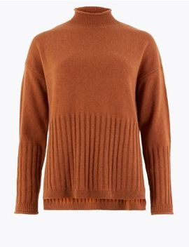 Turtle Neck Relaxed Fit Jumper by Marks & Spencer