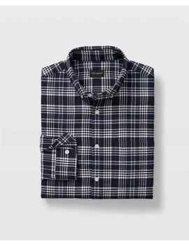 Slim Glen Plaid Flannel Shirt by Club Monaco