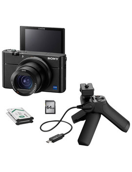 Sony Cyber Shot Rx100 Iii 20.1 Mp 2.9x Optical Zoom Digital Camera With All In One Video Creator Kit by Best Buy