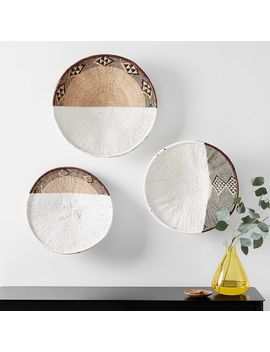 Two Tone Zimbabwe Wall Baskets, Set Of 3 by West Elm