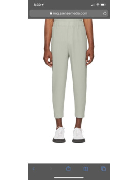 Homme Plisse Issey Miyake Grey Tailored Cropped Trousers by Issey Miyake  ×