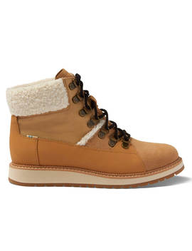 Waterproof Desert Tan Suede And Leather Women's Mesa Boots by Toms
