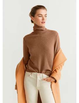 Turtleneck 100 Percents Cashmere Sweater by Mango