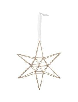 3 D Geometric Star   Gold by B&M