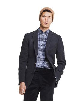 Made In Usa Black Label Sutton Unconstructed Herringbone Sportcoat In Charcoal by Todd Snyder