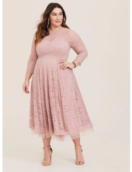Special Occasion Blush Lace Midi Dress by Torrid