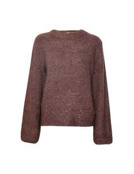 **Vila Brown Knitted Funnel Neck Jumper by Dorothy Perkins