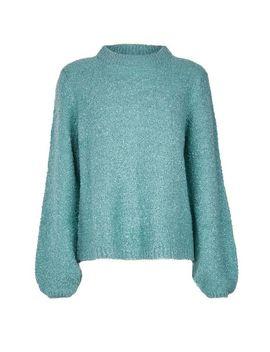 **Vila Blue Knitted Funnel Neck Jumper by Dorothy Perkins