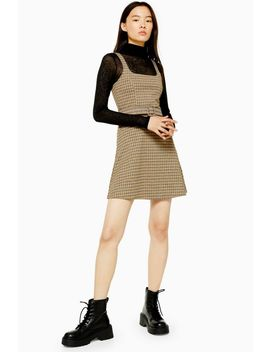 Jacquard Belted Pinafore Dress by Topshop