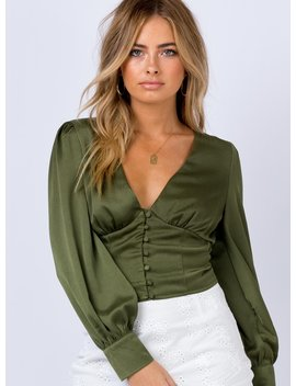 The Tyne Top Khaki by Princess Polly