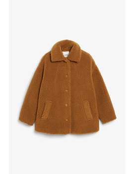 Teddy Coat by Monki