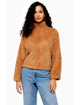 Brown Teddy Jumper by Topshop