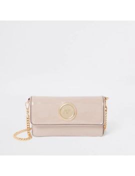 pink-patent-foldover-underarm-bag by river-island