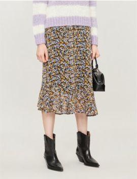 Georgina Floral Print Crepe Skirt by Gestuz