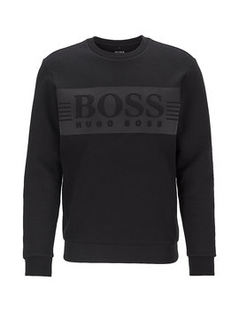 Logo Sweatshirt In A Stretch Cotton Blend by Boss