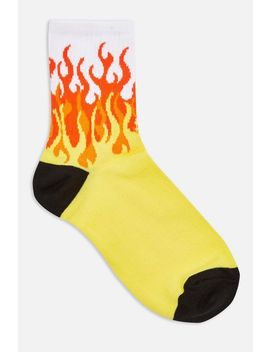 Flame Sport Tube Socks by Topshop