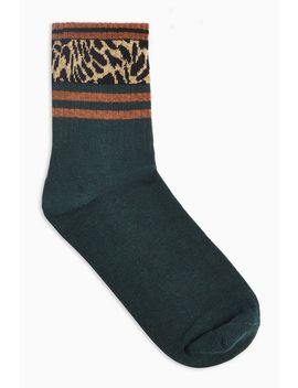 Animal Stripe Tube Socks by Topshop